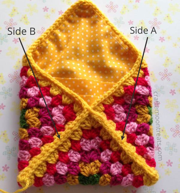 Finish joining crochet envelope bag - free tutorial crafternoontreats.com