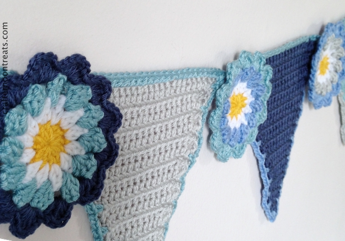 Crafternoon Treats crochet pennant bunting tadah005