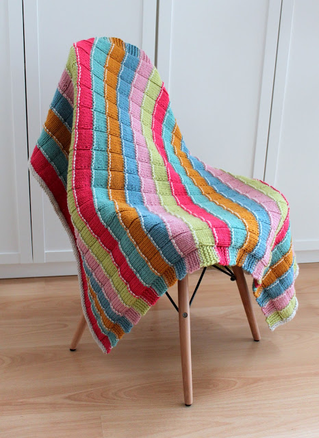 Stylecraft blog tour knitted blanket